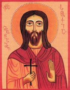 Мученик Сухий Месукевийский. Грузинская икона